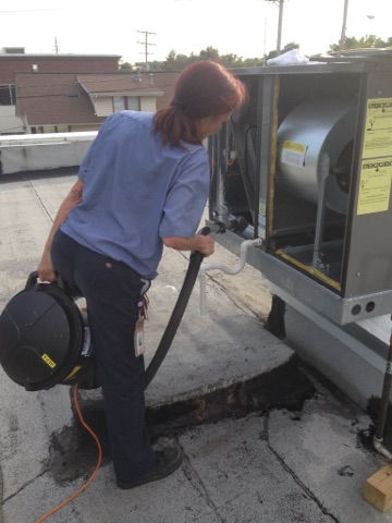 HVAC cleaning at school